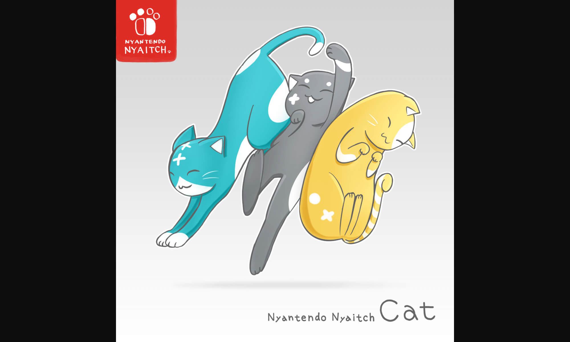 任天堂スイッチライト3色の猫化イラストのメイキング