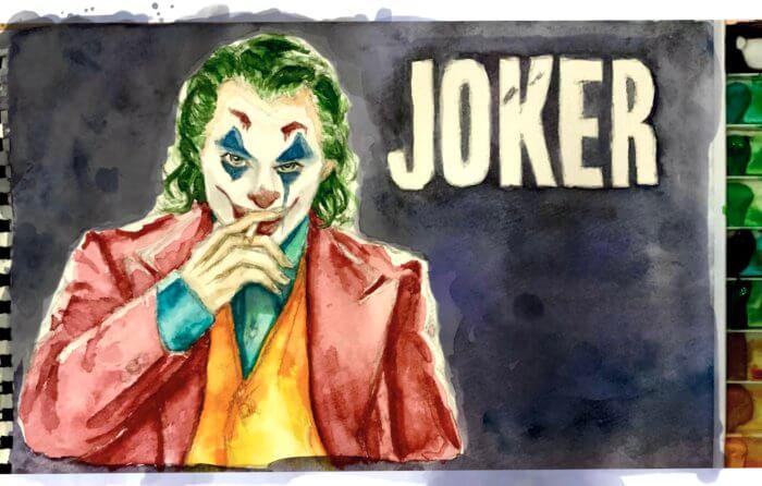 映画ジョーカー(ホアジョ)の絵。Adobe Fresco水彩筆