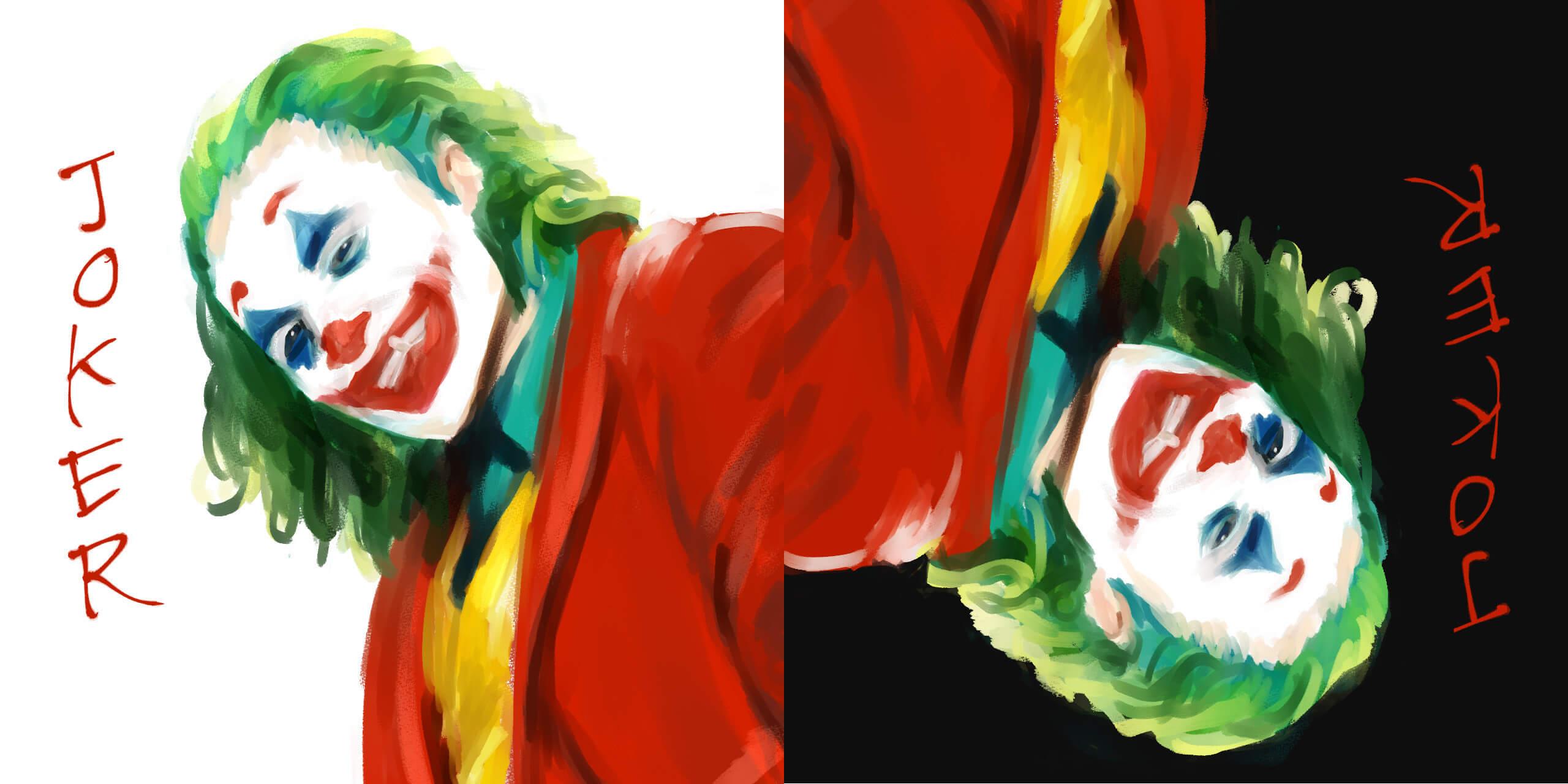 映画ジョーカー(ホアジョ)の絵。iPadPro CLIPSTUDIOイラスト