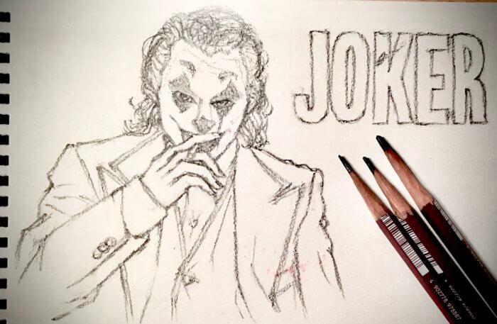 映画ジョーカー(ホアジョ)の絵。鉛筆画イラスト