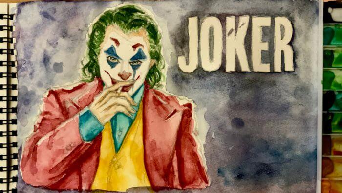 映画ジョーカー(ホアジョ)の絵。透明水彩イラスト