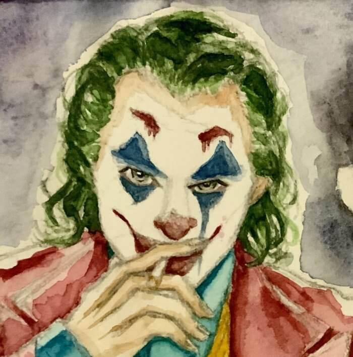 映画ジョーカー(ホアジョ)の絵。透明水彩イラスト拡大版